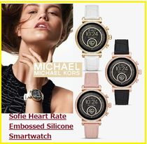 Michael Kors Blended Fabrics Silicon Round With Jewels Elegant Style