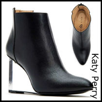 Katy Perry Round Toe Casual Style Street Style Plain Wedge Boots
