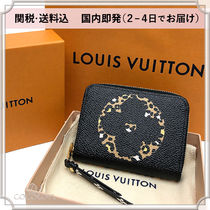Louis Vuitton ZIPPY COIN PURSE Monogram Leopard Patterns Unisex Leather Coin Purses