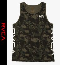 RVCA Camouflage Street Style Logo Tanks