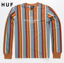 HUF Stripes Street Style Long Sleeves Long Sleeve T-Shirts