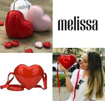 Melissa Heart Casual Style PVC Clothing Shoulder Bags