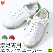 macarena Plain Toe Casual Style Plain Leather Low-Top Sneakers