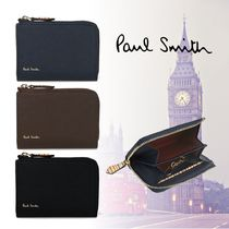 Paul Smith Plain Leather Logo Coin Cases