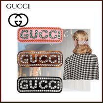 GUCCI Barettes Casual Style Blended Fabrics Street Style Clips