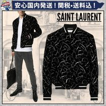 Saint Laurent Short Blended Fabrics Plain MA-1 Oversized Bomber Jackets