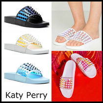 Katy Perry Open Toe Casual Style Unisex Studded Plain Sandals Sandal