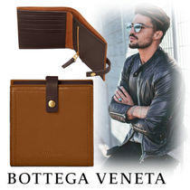 BOTTEGA VENETA Unisex Bi-color Leather Folding Wallets