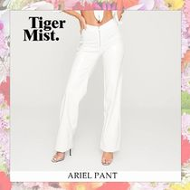 Tiger Mist Casual Style Blended Fabrics Plain Long Skinny Pants