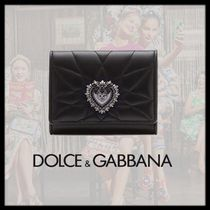 Dolce & Gabbana Unisex Calfskin Plain Folding Wallets