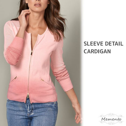 Short Casual Style Long Sleeves Plain Cotton Cropped