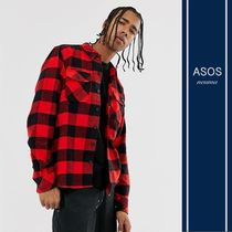 ASOS Other Check Patterns Street Style Cotton Short Sleeves