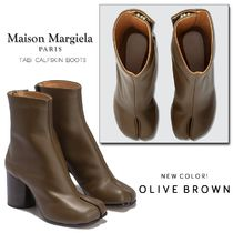 Maison Martin Margiela Round Toe Casual Style Street Style Plain Leather