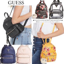 Guess Flower Patterns Casual Style Street Style 2WAY Plain
