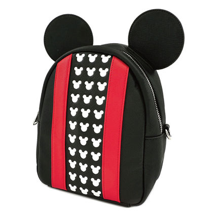 Casual Style Collaboration Logo Backpacks