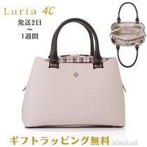 4℃ Glen Patterns 2WAY Leather With Jewels Totes