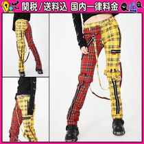 DOLLS KILL Other Check Patterns Casual Style Cotton Long Skinny Pants