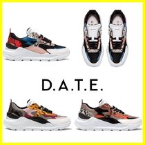 DATE Rubber Sole Casual Style Low-Top Sneakers
