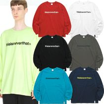 thisisneverthat Street Style Long Sleeves Plain Cotton Long Sleeve T-Shirts
