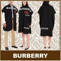 Burberry Unisex Street Style Ponchos & Capes