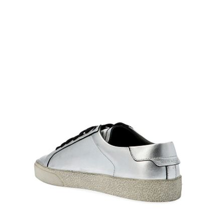Saint Laurent Low-Top Plain Toe Leather Low-Top Sneakers 2