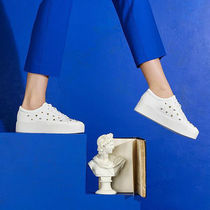 Katy Perry Platform Lace-up Casual Style Blended Fabrics Studded