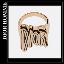 DIOR HOMME Blended Fabrics Bi-color Silicon Rings
