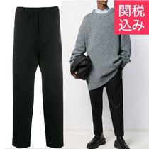 Jil Sander Plain Cotton Cropped Pants