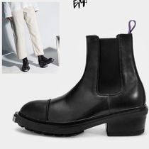 Eytys Rubber Sole Unisex Street Style Plain Leather Chelsea Boots