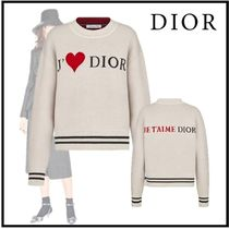 Christian Dior 2019-20AW DIOR AMOUR CASHMERE KNIT SWEATER white 36-46