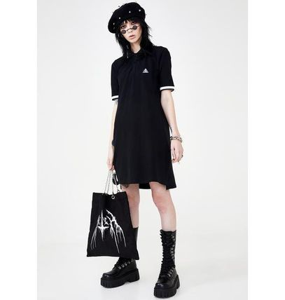 Short Casual Style Street Style Cotton Short Sleeves Dresses