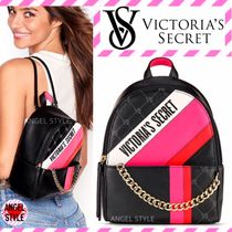 Victoria's secret Stripes Chain Elegant Style Backpacks