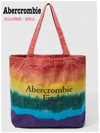 Casual Style Unisex Canvas Street Style Tie-dye A4 Totes