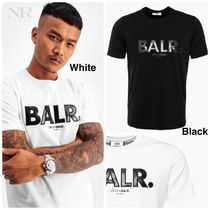 BALR Crew Neck Street Style Plain Cotton Short Sleeves