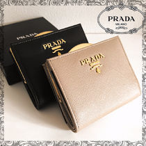 PRADA SAFFIANO LUX Leather Long Wallets