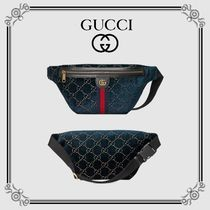 GUCCI Unisex Street Style Leather Shoulder Bags
