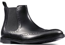 Clarks Wing Tip Leather Chelsea Boots Chelsea Boots