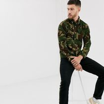 Ralph Lauren Camouflage Street Style Long Sleeves Cotton Shirts