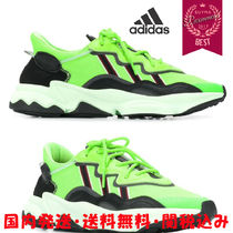 adidas Stripes Rubber Sole Casual Style Blended Fabrics