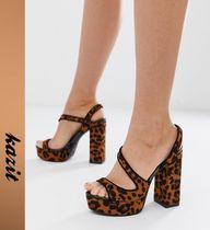 ASOS Leopard Patterns Platform Casual Style