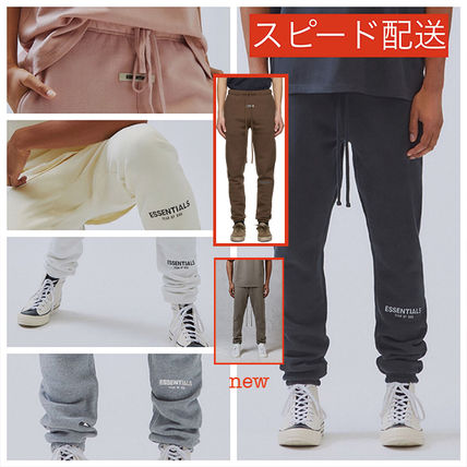FEAR OF GOD ESSENTIALS Unisex Sweat Street Style Logo Pants
