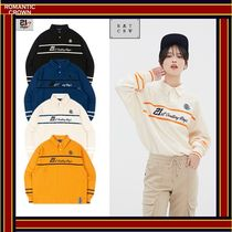 ROMANTIC CROWN Casual Style Unisex Street Style Long Sleeves