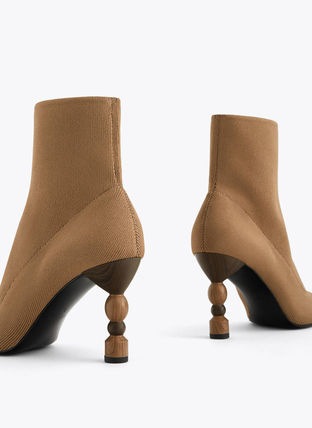 Plain Toe Elegant Style Ankle & Booties Boots