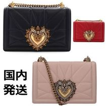 Dolce & Gabbana 2WAY Chain Leather Elegant Style Shoulder Bags