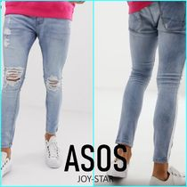 ASOS Stripes Denim Street Style Plain Jeans & Denim