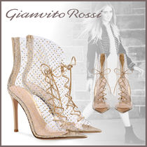 Gianvito Rossi Dots Open Toe Pin Heels PVC Clothing Ankle & Booties Boots