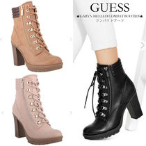 Guess Lace-up Casual Style Street Style Plain Block Heels