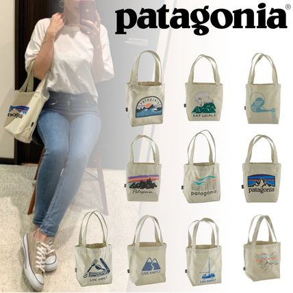 Casual Style Logo Totes