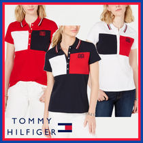 Tommy Hilfiger Street Style Bi-color Cotton Medium Short Sleeves