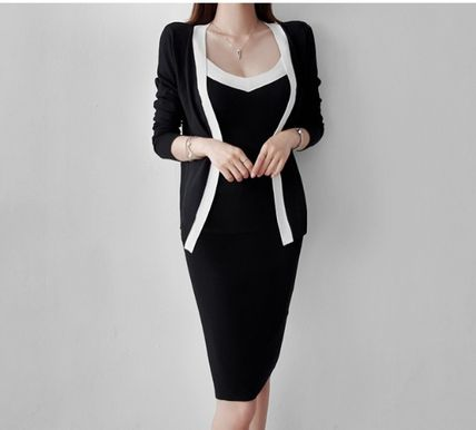 Casual Style Tight Sleeveless Long Sleeves Plain Medium